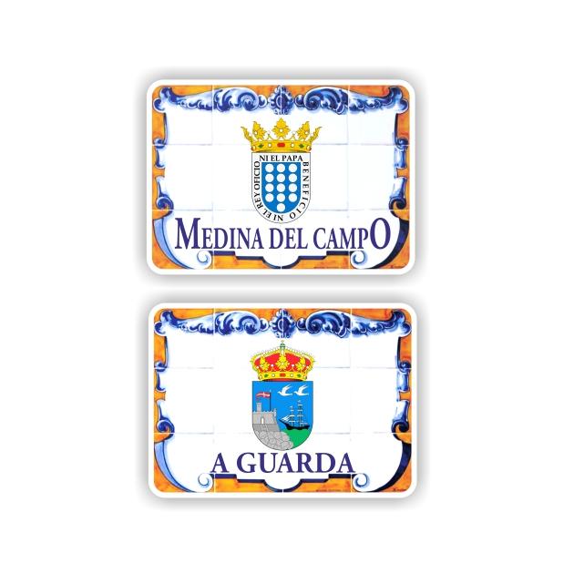 295 027 IMAN GOTA DE RESINA CON BASE DE MADERA 7X5 CM SOUVENIR PLACA CALLE ESCUDO 1