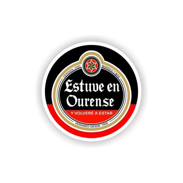 295 028 IMAN GOTA DE RESINA CON BASE DE MADERA REDONDO 55 CM SOUVENIR ESTRELLA CERVEZA