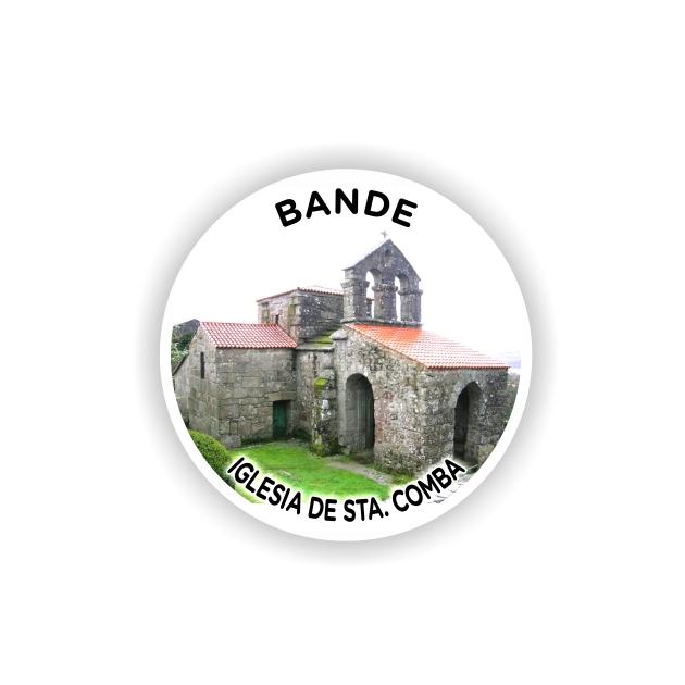 295 029 IMAN GOTA DE RESINA CON BASE DE MADERA REDONDO 55 CM SOUVENIR 1 FOTO