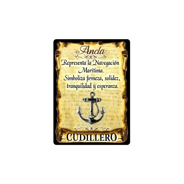 295 039 IMAN GOTA DE RESINA CON BASE DE MADERA 7X5 CM SOUVENIR AMULETO ANCLA 1