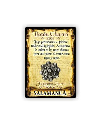 295 041 IMAN GOTA DE RESINA CON BASE DE MADERA 7X5 CM SOUVENIR AMULETO BOTON CHARRO