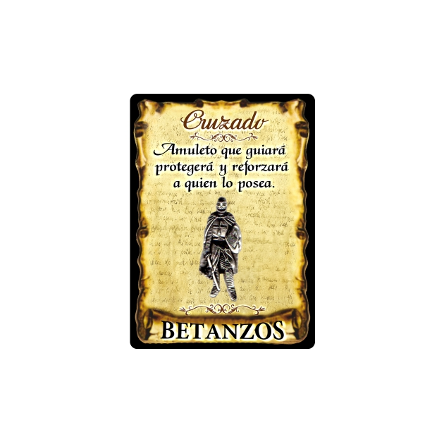 295 044 IMAN GOTA DE RESINA CON BASE DE MADERA 7X5 CM SOUVENIR AMULETO CRUZADO 1