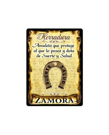 295 045 IMAN GOTA DE RESINA CON BASE DE MADERA 7X5 CM SOUVENIR AMULETO HERRADURA 1