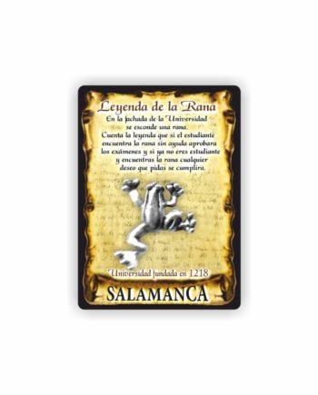 295 047 IMAN GOTA DE RESINA CON BASE DE MADERA 7X5 CM SOUVENIR AMULETO RANA 1