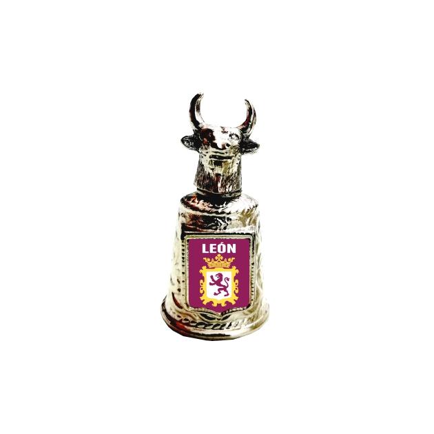 DEDAL METAL CABEZA TORO SOUVENIR 664 001 FOTO 1
