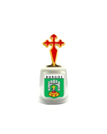 DEDAL PORCELANA CON PIEZA DE METAL CRUZ DE SANTIAGO SOUVENIR 676 1 FOTO 1