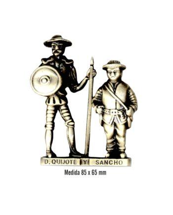 FIGURA METAL QUIJOTE Y SANCHO GRANDE SOUVENIR 1