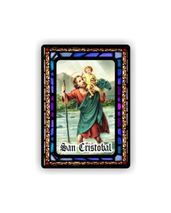 IMAN GOTA DE RESINA CON BASE DE MADERA 7X5 CM 297 SAN CRISTOBAL 116 1