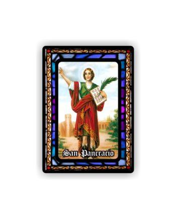 IMAN GOTA DE RESINA CON BASE DE MADERA 7X5 CM 297 SAN PANCRACIO 101 1