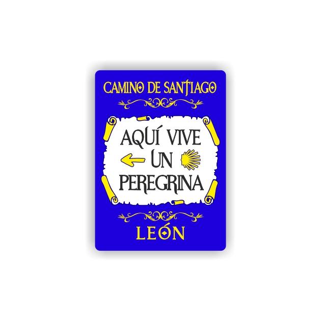 IMAN GOTA DE RESINA CON BASE DE MADERA 7X5 CM SOUVENIR AQUI VIVE UN PEREGRINATEXTO 295 137