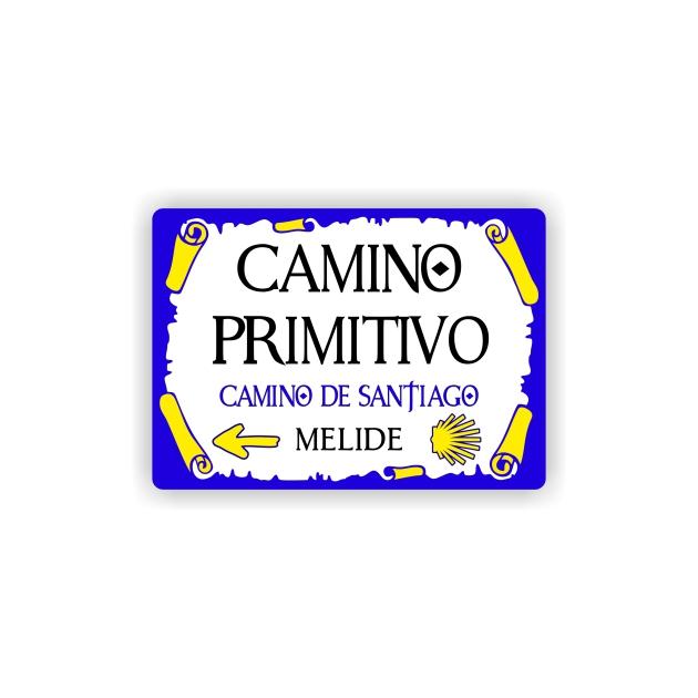 IMAN GOTA DE RESINA CON BASE DE MADERA 7X5 CM SOUVENIR CAMINO PRIMITIVO PLACA PERGAMINO 295 140