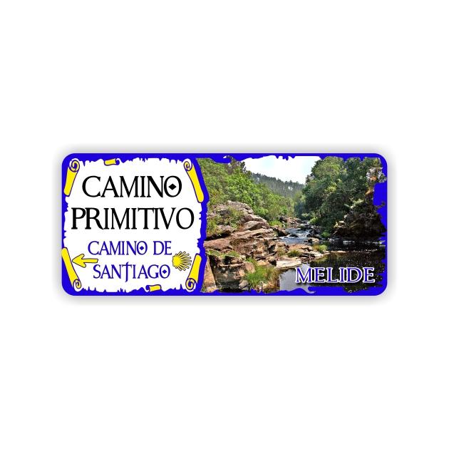 IMAN GOTA DE RESINA CON BASE DE MADERA 9X4 CM SOUVENIR CAMINO PRIMITIVOMONUMENTO 295 152