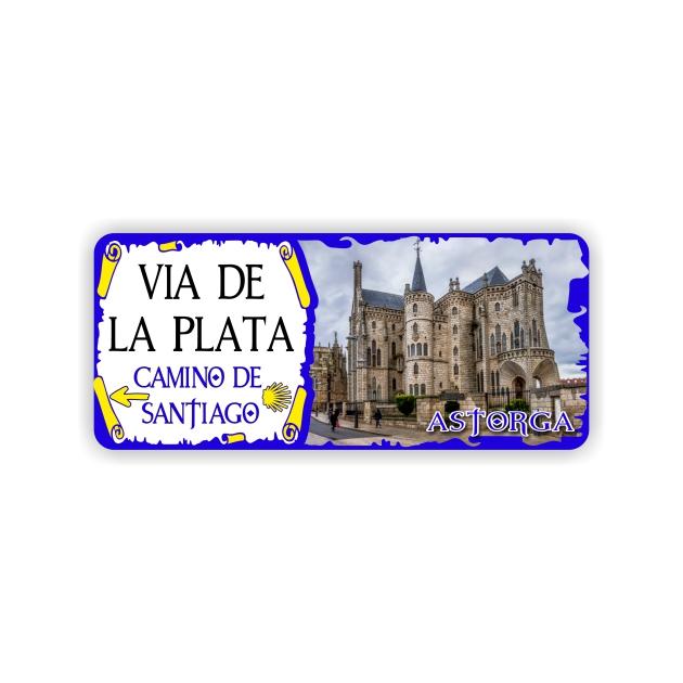 IMAN GOTA DE RESINA CON BASE DE MADERA 9X4 CM SOUVENIR VIA DE LA PLATAMONUMENTO 295 164