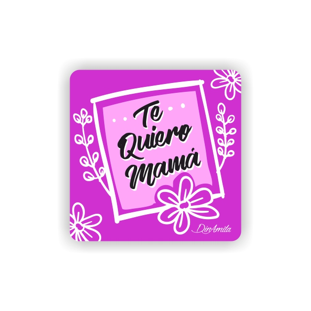 IMAN GOTA DE RESINA CON BASE DE MADERA FRASES 6X6 CM 297 1 1