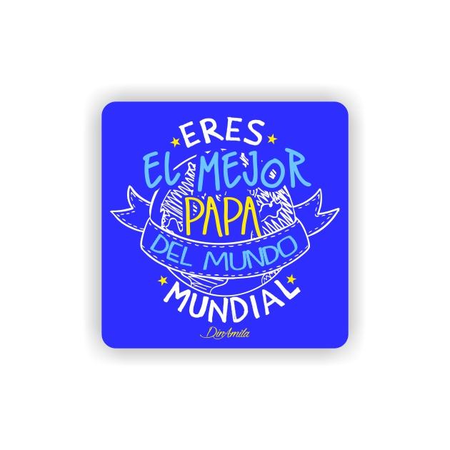IMAN GOTA DE RESINA CON BASE DE MADERA FRASES 6X6 CM 297 11 1
