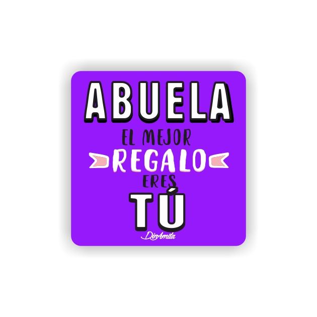 IMAN GOTA DE RESINA CON BASE DE MADERA FRASES 6X6 CM 297 17 1