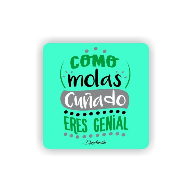 IMAN GOTA DE RESINA CON BASE DE MADERA FRASES 6X6 CM 297 25 1