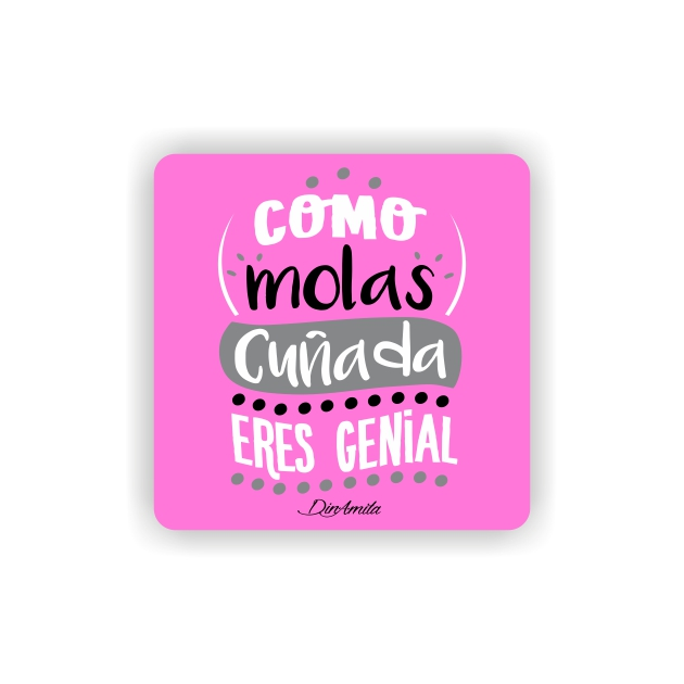 IMAN GOTA DE RESINA CON BASE DE MADERA FRASES 6X6 CM 297 26 1