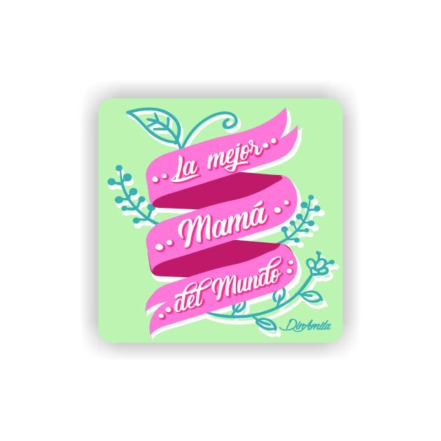 IMAN GOTA DE RESINA CON BASE DE MADERA FRASES 6X6 CM 297 3 1