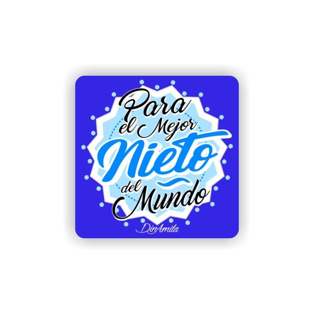 IMAN GOTA DE RESINA CON BASE DE MADERA FRASES 6X6 CM 297 43 1