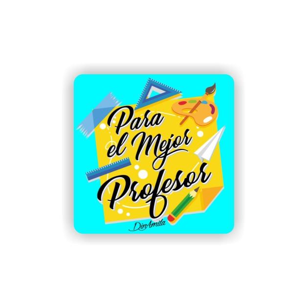 IMAN GOTA DE RESINA CON BASE DE MADERA FRASES 6X6 CM 297 45 1