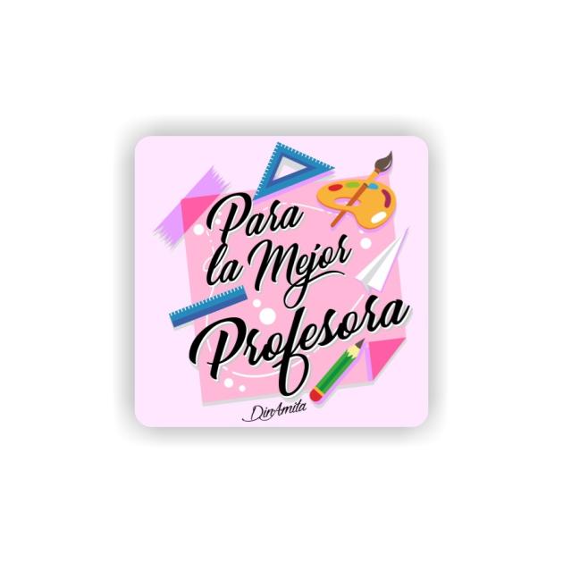 IMAN GOTA DE RESINA CON BASE DE MADERA FRASES 6X6 CM 297 46 1