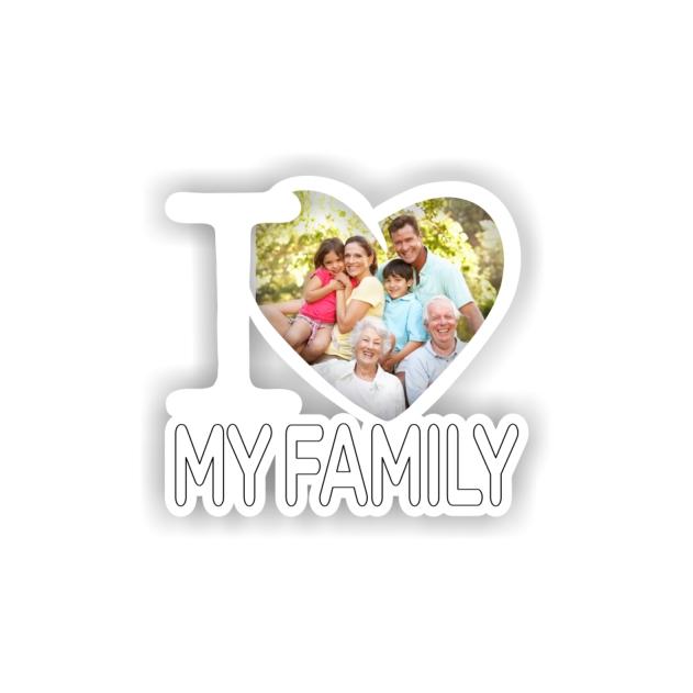 IMAN MADERA I LOVE FOTO MY FAMILY 295 700
