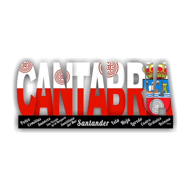 IMAN MADERA LETRAS INTERCALADAS CANTABRIA BANDERA Y ESCUDO 200 918 1