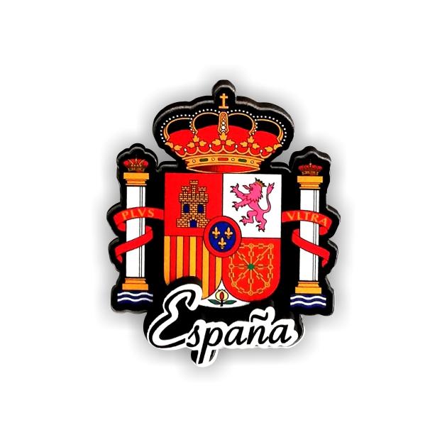 IMAN MADERA SOUVENIR ESCUDO ESPANA 200 853