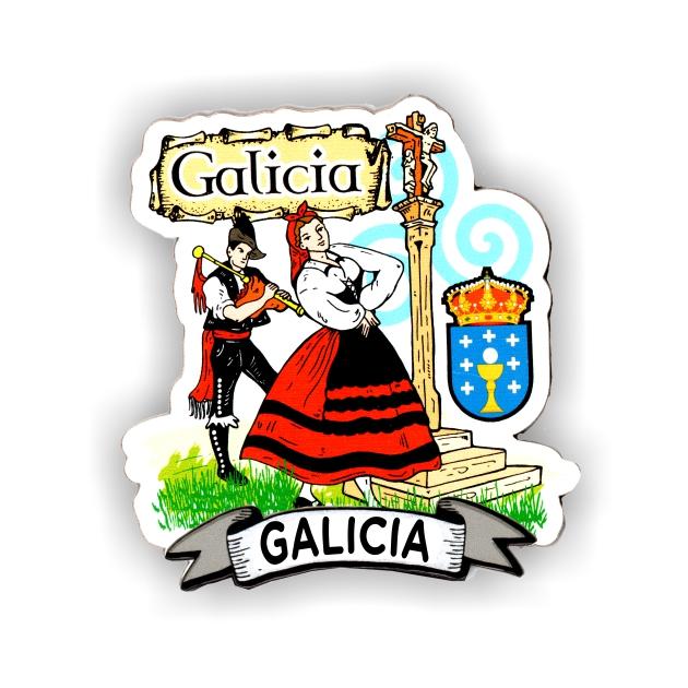 IMAN MADERA SOUVENIR GALLEGOS CRUCEIRO 200 604