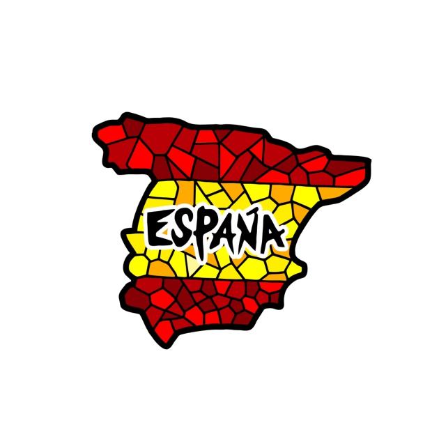 IMAN MADERA SOUVENIR MAPA ESPANA GAUDI 200 862
