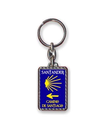 LLAVERO METAL RECTANGULAR CAMINO DE SANTIAGO TEXTO 109 1