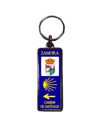 LLAVERO METAL RECTANGULAR MATRICULA CAMINO DE SANTIAGO 124 C 1