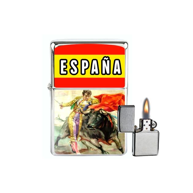MECHERO GASOLINA TIPO ZIPPO BANDERAPASE TORERO 3 872