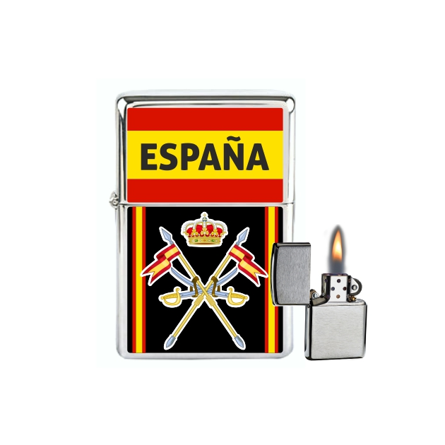 MECHERO GASOLINA TIPO ZIPPO CABALLERIA ESPANA 862
