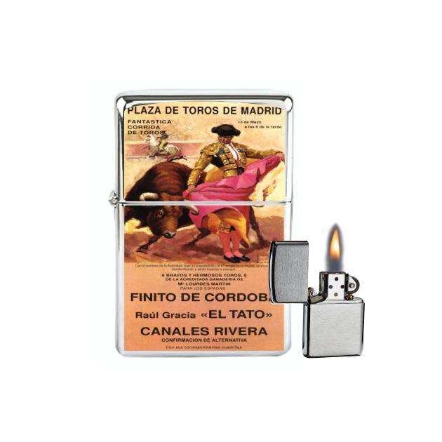 MECHERO GASOLINA TIPO ZIPPO CARTEL TOROS 138