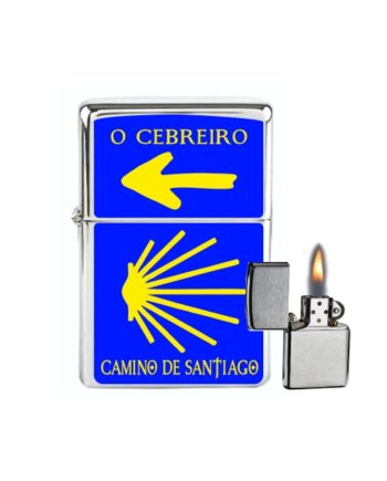 MECHERO GASOLINA TIPO ZIPPO CONCHA Y FLECHA CAMINO SANTIAGO 500 3 1