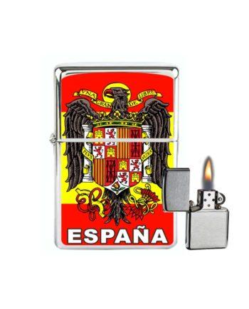 MECHERO GASOLINA TIPO ZIPPO ESPANA AGUILA DE SAN JUAN 874
