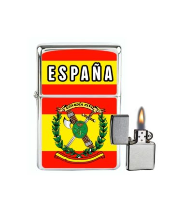 MECHERO GASOLINA TIPO ZIPPO ESPANA BANDERAGUARDIA CIVIL 875