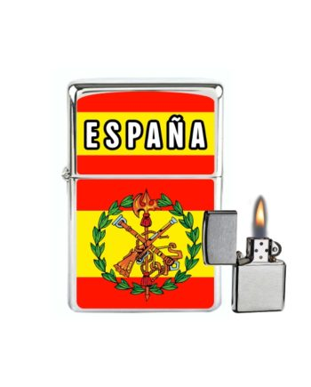 MECHERO GASOLINA TIPO ZIPPO ESPANA BANDERALEGION 876