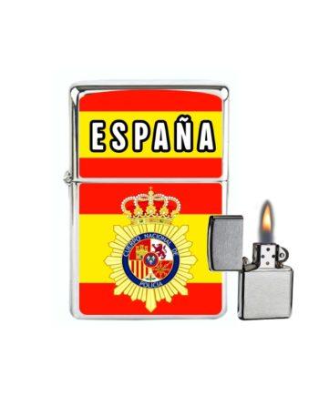 MECHERO GASOLINA TIPO ZIPPO ESPANA BANDERAPOLICIA NACIONAL 877