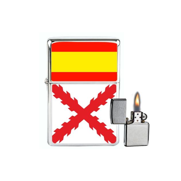 MECHERO GASOLINA TIPO ZIPPO ESPANA CRUZ DE BORGONA 676 SOUVENIR