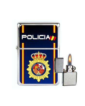 MECHERO GASOLINA TIPO ZIPPO POLICIA NACIONAL AZUL 885