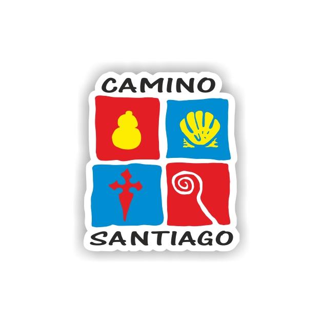 PEGATINA 4 MOTIVOS 5X5 CM CAMINO DE SANTIAGO 800 11 1