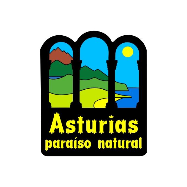 PEGATINA ASTURIAS PARAISO NATURAL6X5 CM 4X35 CM 800 514
