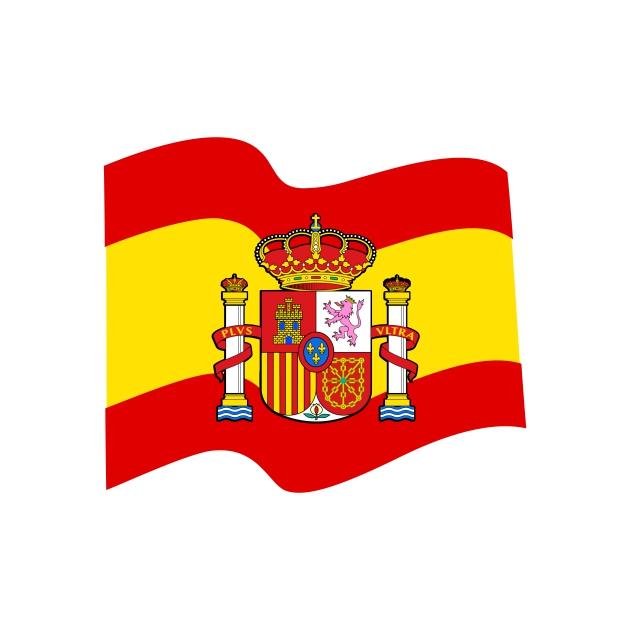 PEGATINA BANDERA ESPANA ESCUDO 7X6 CM 8X10 CM 801 4020