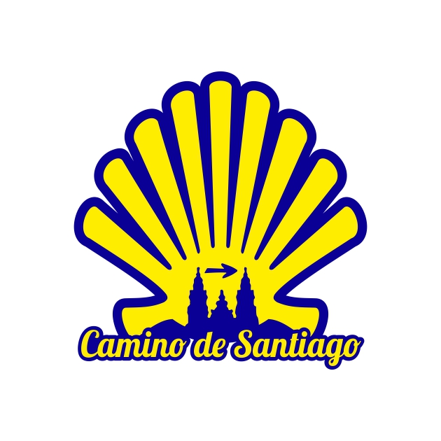 PEGATINA CONCHA 7X7 CM CAMINO DE SANTIAGO 800 1039