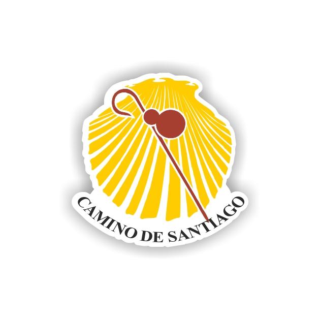 PEGATINA CONCHABASTON 7X7 CM CAMINO DE SANTIAGO 800 10