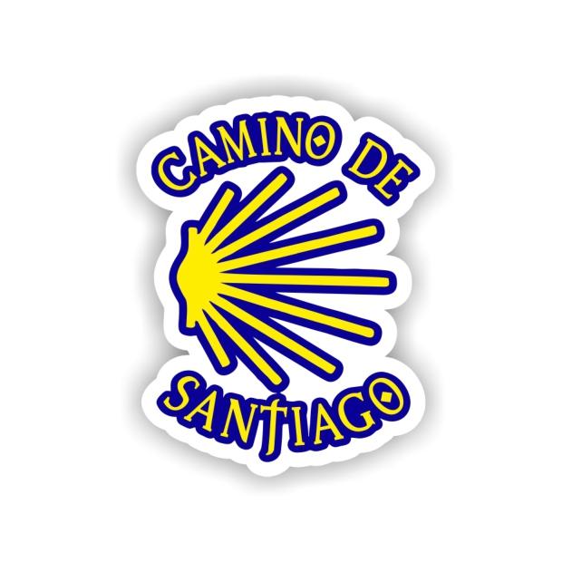 PEGATINA CONCHATEXTO 8X6 CM CAMINO DE SANTIAGO 800 02