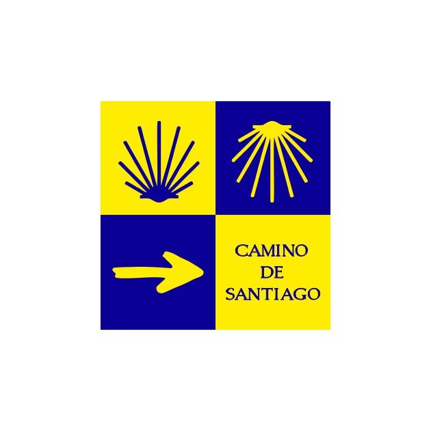 PEGATINA CUADRADA 5X5 CM CAMINO DE SANTIAGO 4 MOTIVOS 800 1031